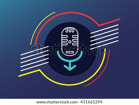 Microphone man human right to speak abstract vector illustration contain EPS10 format , design Layout - stock vector