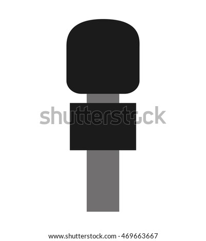 microphone news isolated icon vector illustration design
