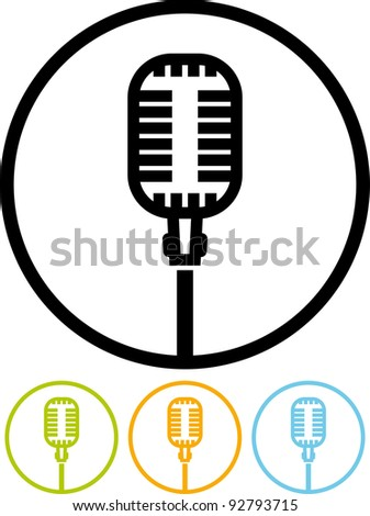 Microphone. On Air - Vector icon - stock vector