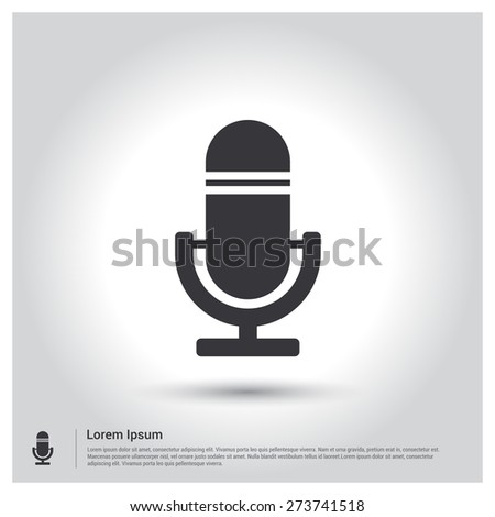 Recording shutterstock microphone recording icon pictogram icon on gray background vector illustration for web site voltagebd Choice Image