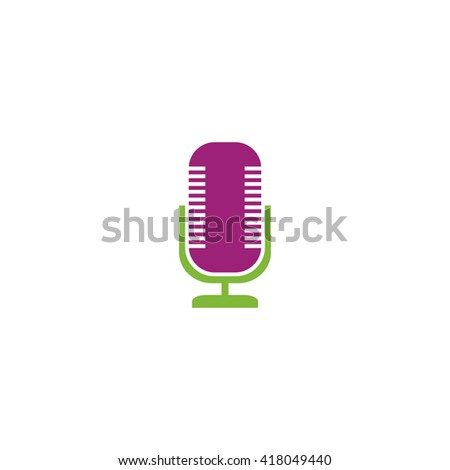 Microphone Simple flat vector icon