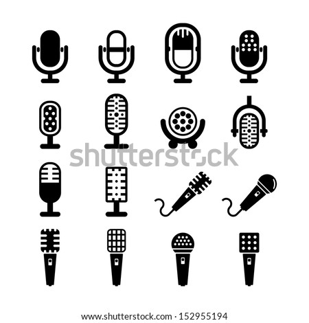 Microphone vector - stock vector