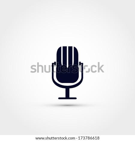 Microphone vector icon design - stock vector