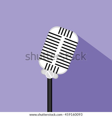 Microphone. Vector illustration. eps10