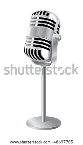 Microphone (vector). In the gallery also available XXL jpeg version of this image. - stock vector