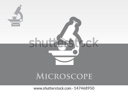Microscope - stock vector