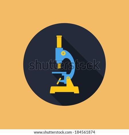 microscope flat style vector illustration - stock vector