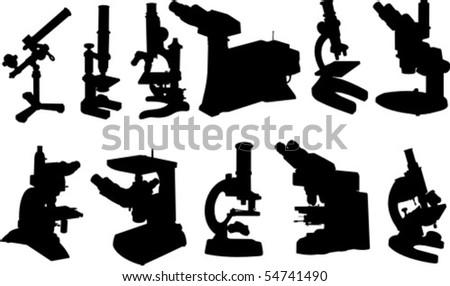 Microscopes - stock vector