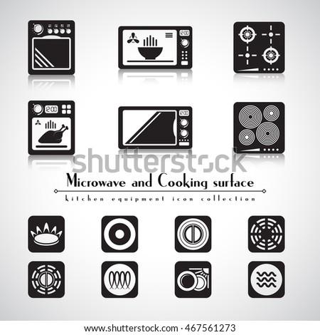 Microwave Hob Stove Cooking Surface Icon Stock-Vektorgrafik ...
