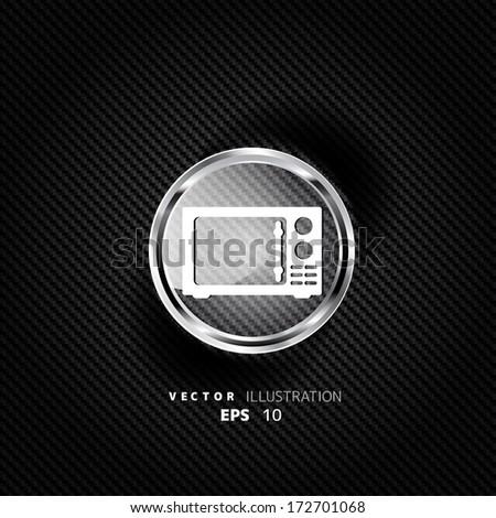 microwave icon. kitchen equipment - stock vector