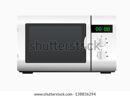 Microwave oven Isolated on a white background - stock vector
