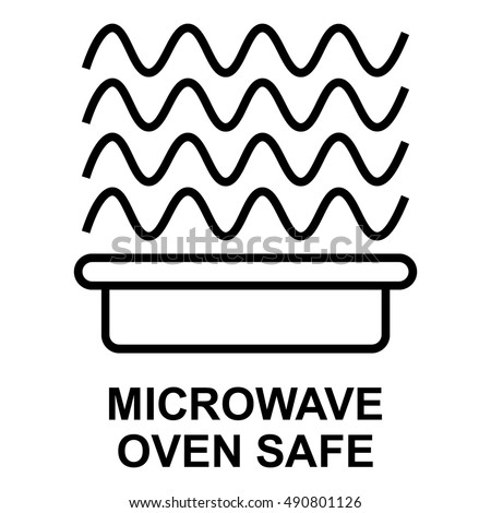 Microwave Oven Safe Symbol Isolated Vector Stock Photo Photo