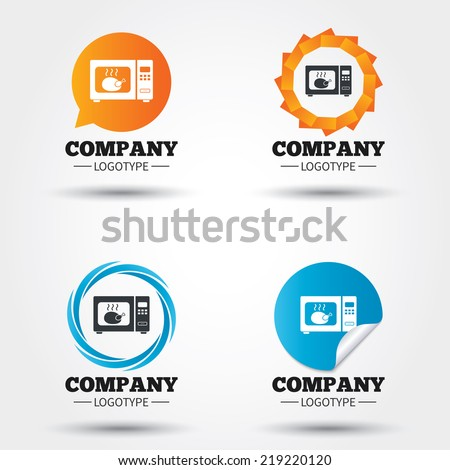Chicken Kitchen Logo set action camera logo camera active stock vector 402193516