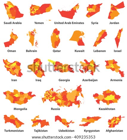 syria Country Map Stock Images RoyaltyFree Images Vectors