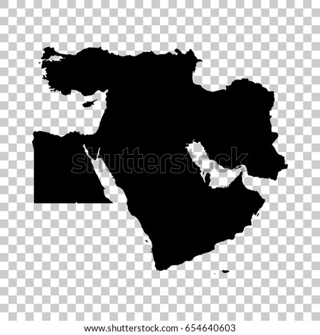 Middle East Map Stock Images RoyaltyFree Images Vectors - Map of us with west highlighted transparent