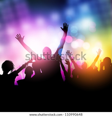 Midnight Party People - vector illustration - stock vector