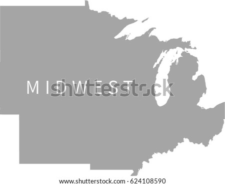 Midwest Map Stock Images RoyaltyFree Images Vectors Shutterstock - Us map midwest