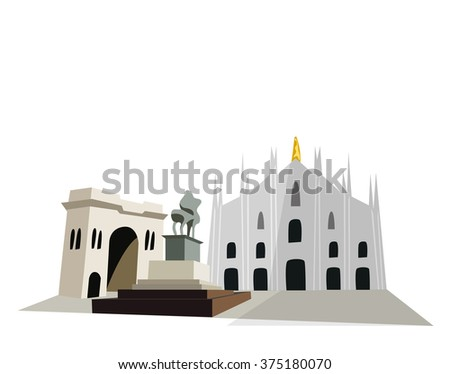 Milan Cathedral - stock vector
