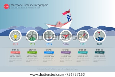 Milestone Timeline Infographic Design Road Map Stock Vector 726757153 Shutterstock