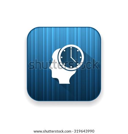milestones clock icon - stock vector