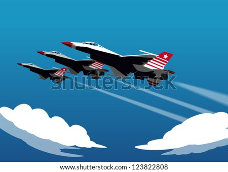 Military airplane speed - stock vector