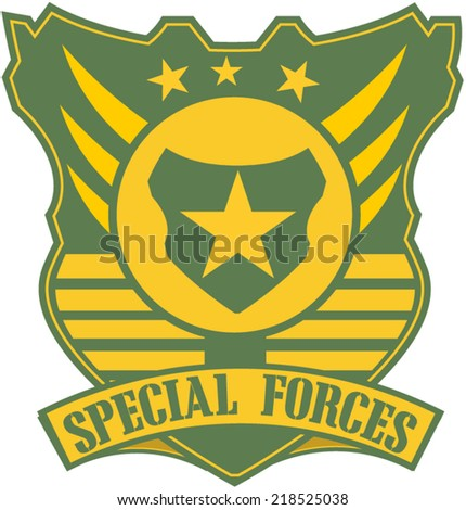 Military and Armed Forces badges  - stock vector