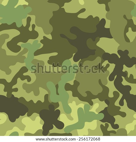 Military army seamless pattern. Vector illustration for fabric. - stock vector