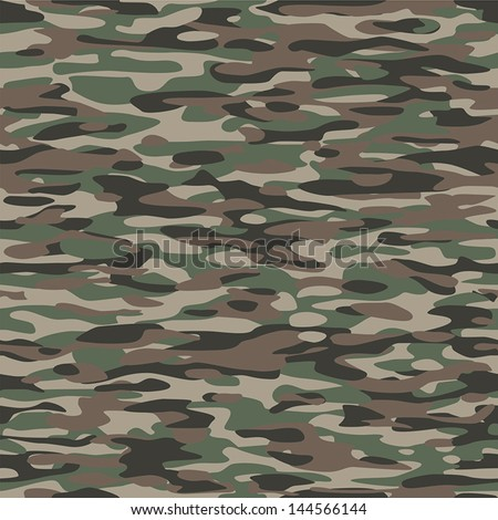 Military Camouflage Textile Pattern. To use as a tile and to make endless surfaces or backgrounds. - stock vector