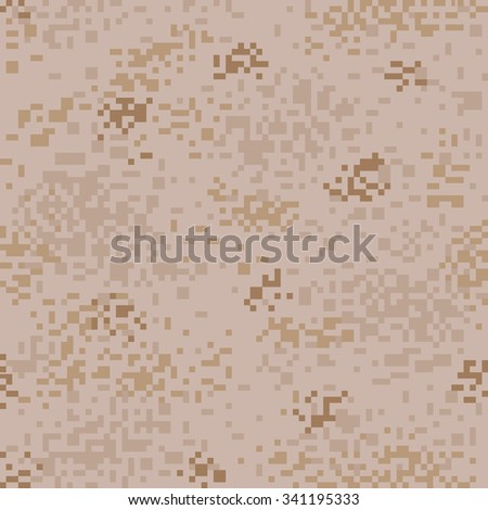 Military Camouflage Textile Seamless: USA, 2001, MARPAT Desert - Vector Illustration with Pattern in Swatches Panel