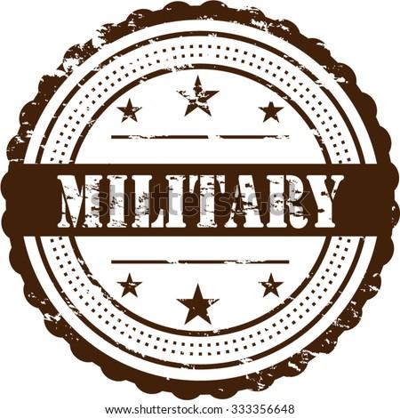 Military / Grunge Badge - stock vector