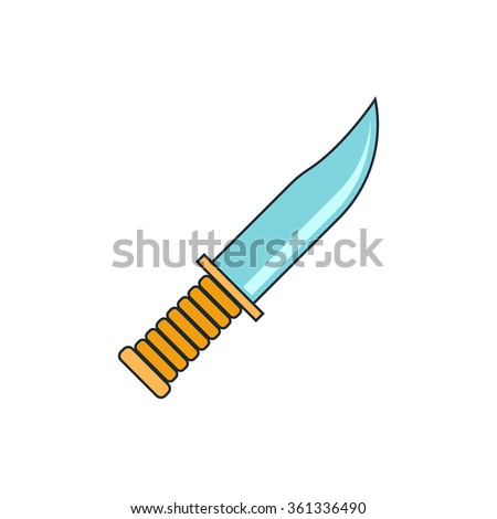 military knife icon - stock vector