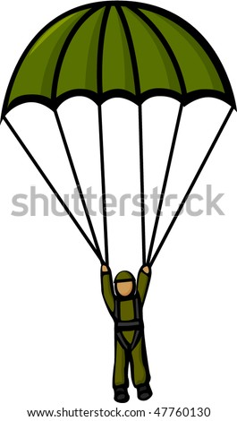 military paratrooper - stock vector
