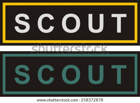 Military patch, scout stripe - stock vector
