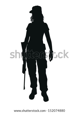 military people - stock vector