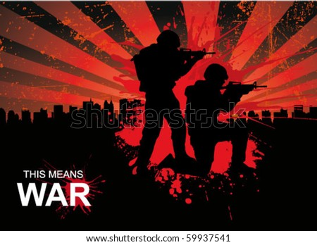 military poster - stock vector