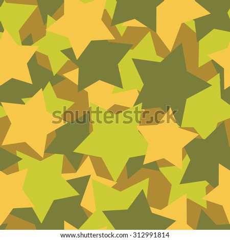 Military texture from stars. Army background vector. Protective Soldier Camouflage. - stock vector