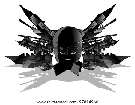 military threat. vector illustration