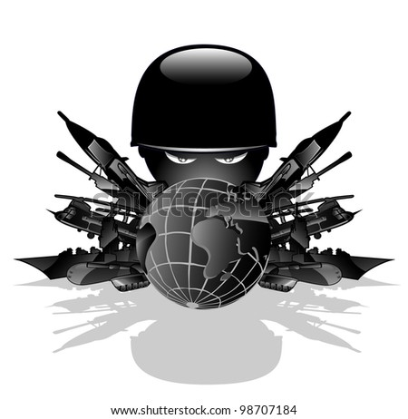 military threat. vector illustration 2