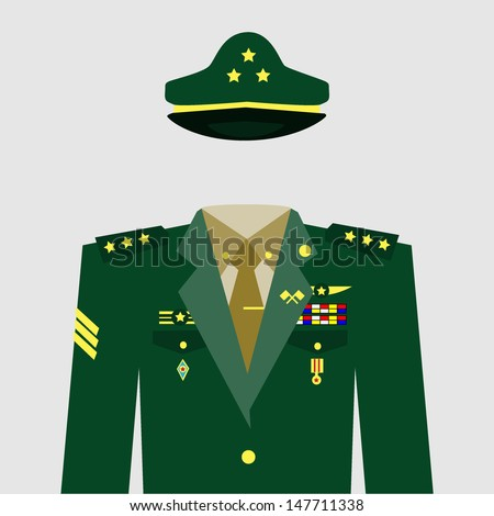 Military uniform - stock vector