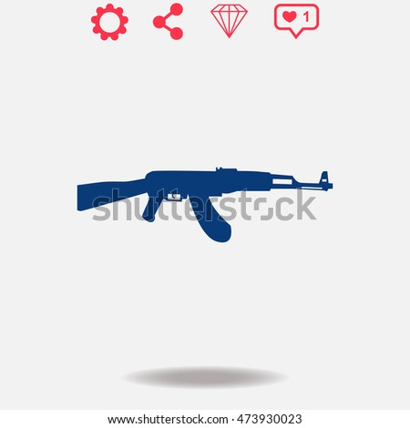 Military vector icon on grey background.