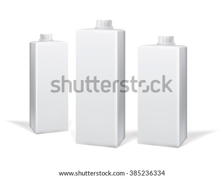 Milk and juice carton package. Vector