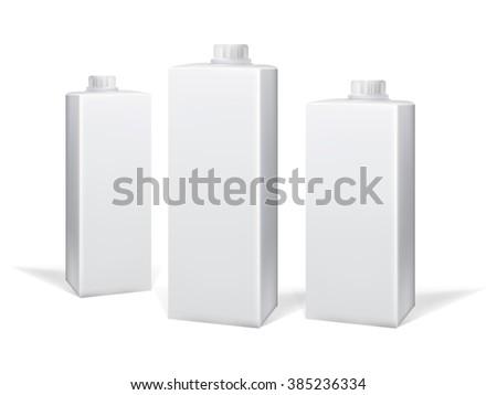Milk and juice carton package. Vector - stock vector