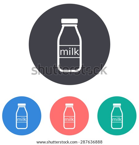 milk bottle icon - stock vector