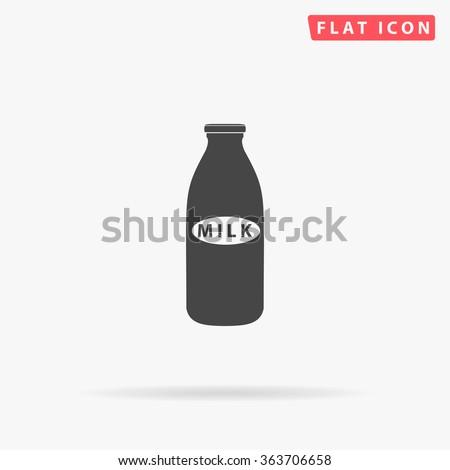 Milk bottle Icon Vector.  - stock vector