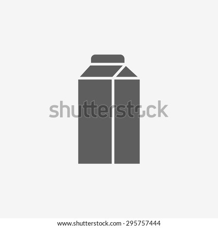 Milk box icon - stock vector