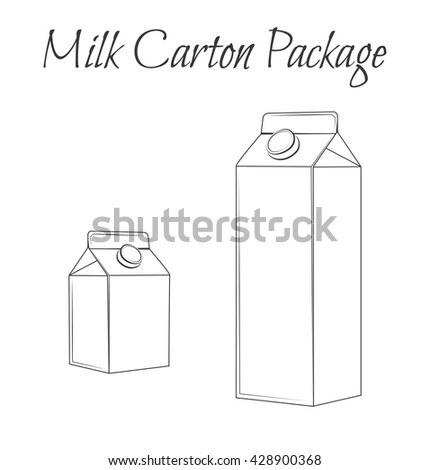 Milk Box. Milk carton package vector illustration. - stock vector