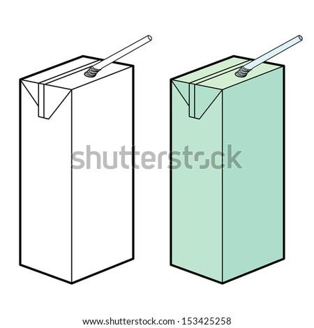 milk box vector - stock vector