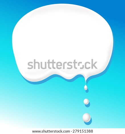 milk bubble for text - vector illustration - stock vector