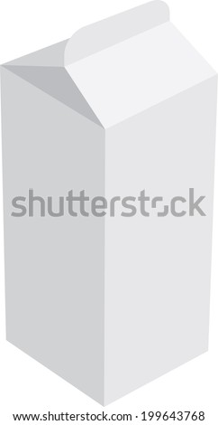 Milk carton box- Vector - stock vector