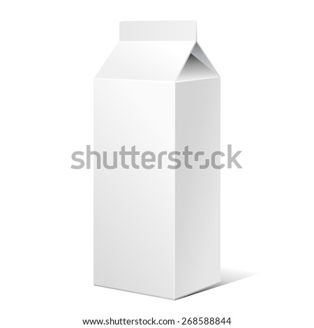 Milk Carton Packages Blank White. Ready For Your Design. Product Packing Vector EPS10  - stock vector